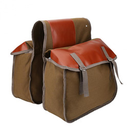 bike trunk bag NZ - Bicycle Canvas Bag Bicycle Back Seat Pannier Cycling Rear Rack Trunk Bike Luggage Large Capacity Saddle Tail Pouches Storage Bag