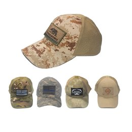 792f9704ad099 Tactical Patch Cap Australia - 10pcs lot Army fans camouflage Hat mesh  breathable sunscreen hat tactical