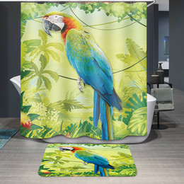 Discount green room decor - Printing 5 Designs Waterproof Green Leave Parrot Bathroom Accessories Curtain for Living Room Bedroom Windows Luxury Hom