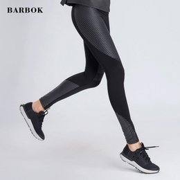 Wholesale BARBOK Autumn Yoga Summer High Waist Print Leggings Women Sexy Hip Push Up Pants Legging Black Leggings Trousers