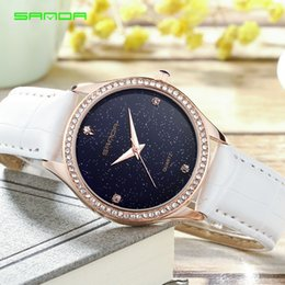 online shopping Best Selling Product Women Wristwatches Luxury Top Brand Leather Calendar Night Sky Dial Watches Leisure Ladies Girl Quartz Dress Watch