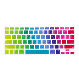 $enCountryForm.capitalKeyWord Canada - 1 Pcs US Arabic Colorful Silicone Keyboard Protector Skin Protective Film Cover for Macbook 13 15 17 inch