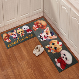 $enCountryForm.capitalKeyWord NZ - Cartoon Kitchen Floor Mat Door Mat 2pcs set Mattress Bathroom Antiskid Pad Long Strip Absorbent Household Carpet Super Soft Bathroom Carpet