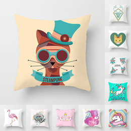 dark chocolate dogs 2019 - Cartoon animal prints car couch dog pillow pillowcase home pillow cover cushion cover discount dark chocolate dogs