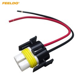 pigtail wire NZ - FEELDO H11 H8 Heavy Duty Loose Wiring Ceramic Socket Plug Connectors Adapter Pigtails For Headlights Fog Lamps #5468