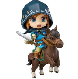China 2018 New Good Smile Nendoroid Link Zelda Figure Breath of the Wild Ver DX Edition Deluxe Version Action Figure cheap link action figures suppliers