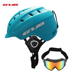 $enCountryForm.capitalKeyWord NZ - GUB Ski Helmet Integrally-molded Skiing Goggles Helmet For Adult Snow Helmets PC+EPS Safety Skateboard Ski Snowboard