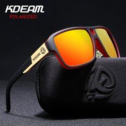 KDEAM Polaroid Gözlük Erkekler Spor gözlük Hard case Kare Güneş Gözlüğü kadın Marka Sürüş Polarize Gözlük Ile Açık KD520