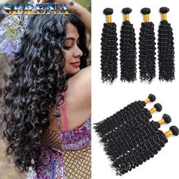 kinky curly human hair 2019 - Indian Deep Curly Weave Virgin Human Hair Bundles Peruvian Kinky Curly Hair Weaves 3 Bundles Deep Wave Brazilian Human H