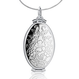 Chinese  Vintage Photo Locket Pendant & Necklace 925 Sterling Silver Fashion Fine Jewelry For Women Men Party Birthday Gift manufacturers