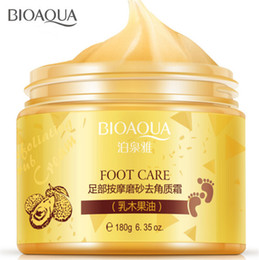 Vente en gros BIOAQUA 24K GOLD Shea Buttermassage Crème Peeling Masque de renouvellement Baby Foot peau lisse Soin Exfoliant Pieds Masque par parklondon