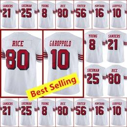 Discount new rice - Mens New San Francisco 49er jerseys 10 Jimmy Garoppolo jersey 80 Jerry Rice 25 Richard Sherman jersey all stitched jerse