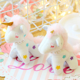 Discount dreams plush - New Dream Lucky Unicorn Pony Plush Key Chain Bag Pendant Realistic Mini Girl Cute Toy Filled Doll Holiday Birthday Gift