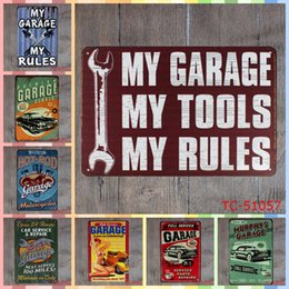 Folk Art Christmas Australia - MY GARAGE MY TOOLS MY RULES 20*30cm Metal Tin Signs Christmas Decorations Luxury Home Decor Posters Wall Art Arts and Crafts