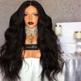 silk base part wigs NZ - Virgin Malaysian Free Part Silk Base Full Lace Wigs with Baby Hair Around Body Wavy Silk Top Lace Front Wigs for Black Women