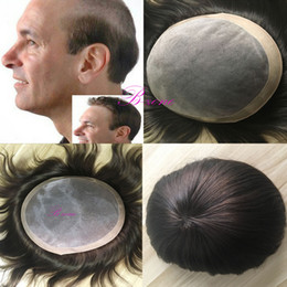 Chinese  Mono Top Hair Piece With NPU Most Durable Toupee Indian Remy Hair Comfortable Men Hair Wig manufacturers