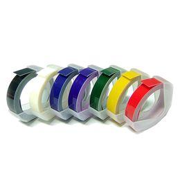 5 PCS Manual Label Machine Ribbon 9mm DIY Office Gifts With Viscose Ribbon DIY printer label paper on Sale
