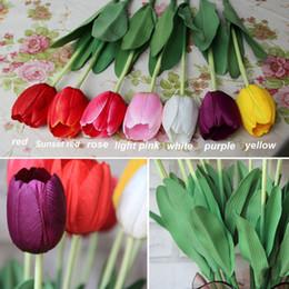 Stem packS online shopping - Wedding Pack cm Artificial Tulip Flowers Single Long Stem Bouquet Beautiful Simulation Flower Party Wedding Decoration L1