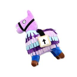 Fortnite Troll Stash Llama рис кукла мягкие фаршированные игрушки для животных Fortnite Stash Llama плюшевые игрушки мультфильм фаршированная кукла 25 см