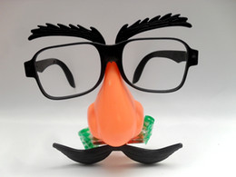 $enCountryForm.capitalKeyWord Australia - Free shipping Blowing his beard Blowing Dragon toy dress up Clown glasses frame Cartoon funny toy mask Funny glasses