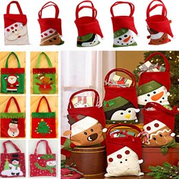 Xmas Gift Paper NZ - Christmas Gift Bags For Santa Claus Snowman Elk Penguin Reindeer Candy Wrap Bags Xmas Home Decoration HH7-1567
