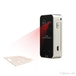 Virtual Computers NZ - Bluetooth Laser Projection Keyboard Virtual Keyboard for Smartphone PC Tablet Laptop Computer English QWERTY Laser Keyboard