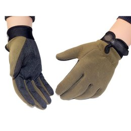 army gloves 2019 - High Qualtity Men Tactical Anti-Slip Full Finger Gloves Outdoor Gloves cheap army gloves