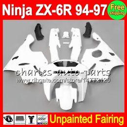 Fairings For kawasaki ninja 1994 online shopping - 8Gifts Unpainted Full Fairing Kit For KAWASAKI NINJA ZX R ZX6R ZX R R Fairings Bodywork Body kit