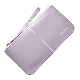 Hand Bag Straps UK - Artmi Ladies Leather Wallet Leisure Large Capacity Hand Bag Phone Pocket Cash Wallet with Hand Strap