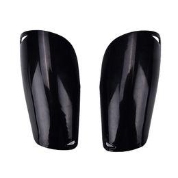Toptan satış Siyah 1 Çift Profesyonel Spor Futbol Shin Muhafızları Futbol Bacak Pedleri Kaleci Eğitim Koruyucu Shin Muhafızları