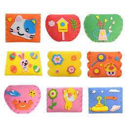 $enCountryForm.capitalKeyWord Canada - DIY 3D EVA Foam Sticker Kids Cartoon Wallet Purse Puzzle Child Craft Toy Kits Children Early Learning Education Toys