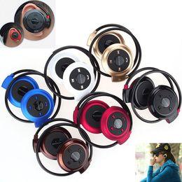 Wireless Usb Music Headphones Canada - Mini 503 Bluetooth 4.0 Headset Sport Wireless Headphones Music player Stereo Earphones+Micro SD Card Slot+FM Speakers Free DHL