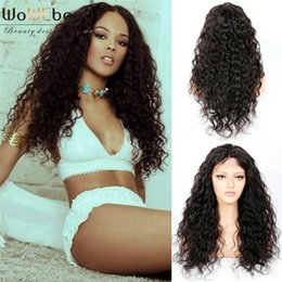$enCountryForm.capitalKeyWord NZ - WoWEbony Top Quality Human Hair Glueless Lace Frontal Wig&Full Lace Wig For Black Women Indian Remy hair Curly Baby Hair Preplucked Hairline