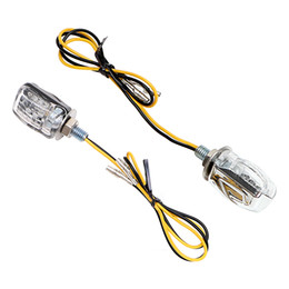 12v mini lamps online shopping - M03 Mini Motorcycle Turn Signal Light Indicator LED Blinker Sliver Black Moto Turn Signals Amber Flashing Lamp DC V