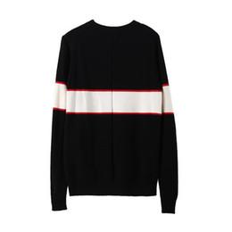 Venta al por mayor de Suéteres de diseñador negros para hombres de moda de manga larga carta de impresión suéteres pareja otoño sueltos suéteres para mujeres envío gratis