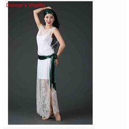 $enCountryForm.capitalKeyWord NZ - Winter Lady Women Belly Indian Oriental Dance Dress Cut out Lace Robe Belt Headband Suit Competition Costume Rumba Dancewear Clothes Outfits