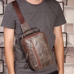 Genuine Leather Handbag Cowhide Shoulder Bag Australia - High Quality Men Genuine Leather Cowhide Vintage Sling Chest Back Day Pack Handbag Travel Cross Body Messenger Shoulder Bag