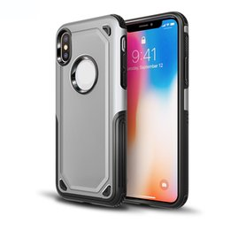 $enCountryForm.capitalKeyWord UK - New Iphone XS Carbon Fiber Hybrid Armor Defender Case for iphoneXR Dual Layer Soft Rubber & PC Shockproof Protective Hard Cover For iPhone X