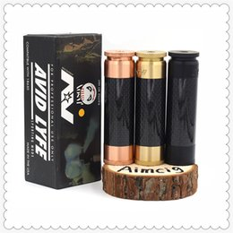 copper vape atomizer 2020 - Classical AV Able Mod with Carbon Fiber Tube Brass & Copper Vape Mech Mod 510 Thread for 24mm Atomizer for Retail Epacke