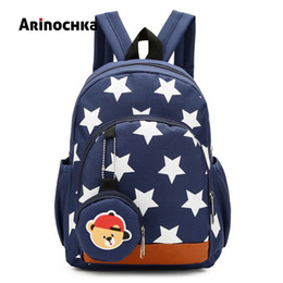 girls kindergarten bags NZ - Cute Boys Backpacks for Kindergarten School Book Bags Stars Printing Plecak Szkolny Children Kids for Baby Girls Escolar