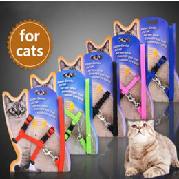 Small Traction Belts Canada - Pet Cat Lead Leash Halter Harness Kitten Strap Belt Safety Rope Buckle Chest Strap Traction Harness Belt Cat KKA5049