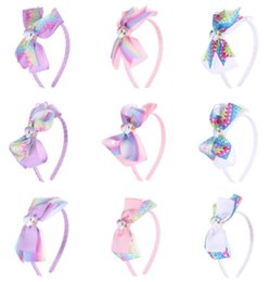 Discount kids hair band design - 9 design kids Unicorn Headband Halloween Ribbon Lovely Bow Girls Baby Cosplay Decor Kids Hair Band Bowknot Headband Acce