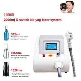 tattoo removal beauty salons 2019 - 2018 New Portable 1000W 532nm 1064nm 1320nm Tattoo Pigments Removal Q Switch ND YAG LASER Beauty Salon machine discount