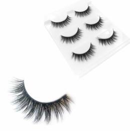 $enCountryForm.capitalKeyWord UK - 3 Pairs 6pcs False Eyelashes Natural Soft Eye Lashes Makeup Handmade Thick Fake False Eyelashes Make Up Beauty