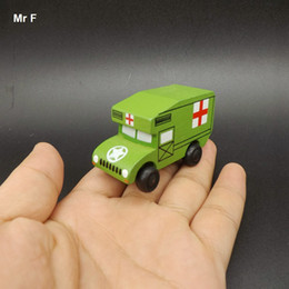 $enCountryForm.capitalKeyWord Australia - Exquisite Mini Ambulance Vehicle Educational Toys Wooden Car Model Kid Gift Learning Educational Teaching Prop Gadget