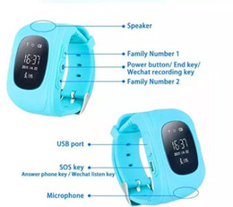 Kids Smart Watches Child Australia - Q50 Kids Smart Watch GPS LBS Double Location Safe Children Watch Activity Tracker SOS Card for Android and IOS