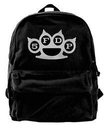 Cute baCkpaCks for College women online shopping - Five Finger Death Punch Canvas Shoulder Backpack Cute Backpack For Men Women Teens College Travel Daypack Black