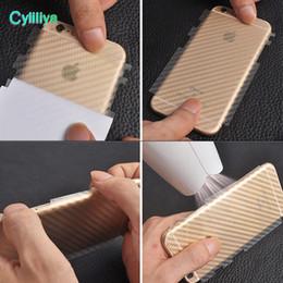 $enCountryForm.capitalKeyWord Australia - For iPhone XS XR 8 Plus 3D Anti-fingerprint Cover Clear Carbon Fiber Back Screen Protector Film Wrap Skin Stickers For iphone 7 6s plus