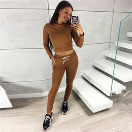Active Kit NZ - New Arrival Womens Sports Tracksuits Short Blouse Long Pants Long Sleeve Tshirt Jogging Running Suits Solid Sport Kits for Women
