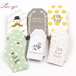 Discount gift tags labels - tag New 50PCS Lot Paper s With String DIY Craft Label Luggage Party Favor Wedding Party Note Hang Tag Gift Wrapping Supp